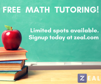 Free year of online math tutoring with Zeal