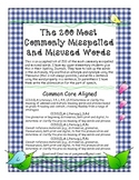 Free200 Spelling Most Commonly Misspelled and Misused Words List CCSS Aligned