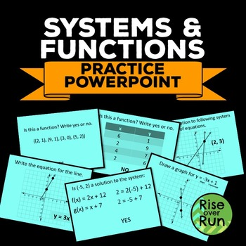 Equations of Lines, Systems of Equations, and Functions Po