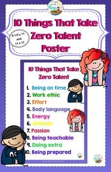 Freebie- 10 Things That Take Zero Talent Poster