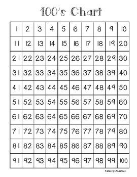 Freebie: 100's Chart