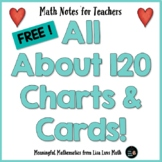 120 Charts and Cards  Math Notes for Teachers Freebie