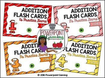 0 - 9 Addition Facts Practice Powerpoint Game Bundle