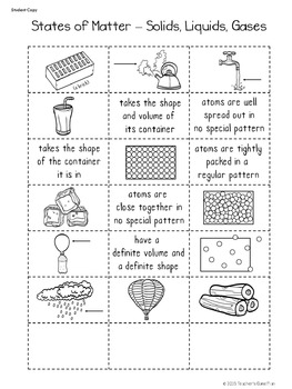 Freebie - 2 Interactive Science Sorts - States of Matter