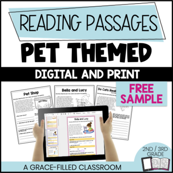FREEBIE: 2 Short Passages: Pet Themed {Print and Go}