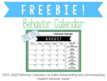freebie 2018 2019 editable behavior calendar by the smartest little