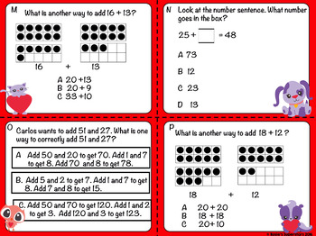 2nd Grade Measurement and Numbers and Operations Task Cards~Freebie!