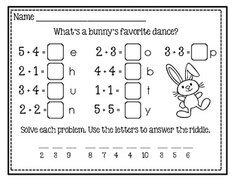 """Freebie #3 ~ """"Math And Laugh""""  End Of The Year Activity"""