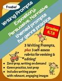 Freebie! 3 Writing Prompts: Expository, Persuasive & Narra