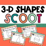 3D Shapes Scoot: 24 Task Cards and Differentiated Recording Sheets