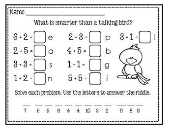 Freebie #4 ~ Math And Laugh
