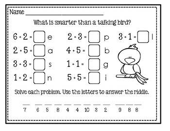 Freebie #4 - Math And Laugh