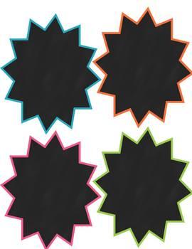 Freebie! 4 Starburst Chalkboard Frames: Commercial or Personal Use