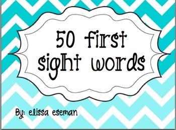 Freebie! { 50 First Sight Words }