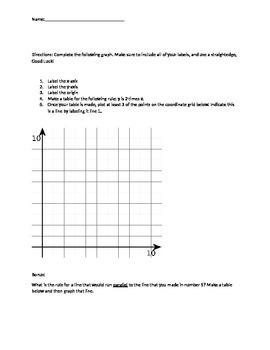 Freebie!! **5th Grade Coordinate Grid Quiz**