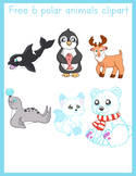 Freebie 6 polar animals clip art