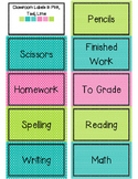 Freebie: 60+ Classroom Labels in Pink, Teal, Lime