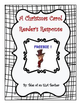 "Freebie~ ""A Christmas Carol"" Reader Response"