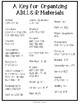 Freebie: A Key for Organizing ABLLS-R Materials