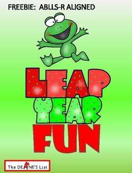 Freebie: ABLLS-R ALIGNED Leap Year Fun