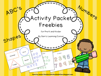 Freebie Activity Packet: ABCs, Shapes, Numbers