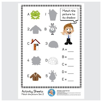 Freebie : Activity Sheet/Match the picture Set 2