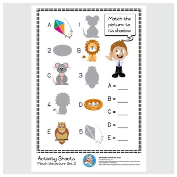 Freebie : Activity Sheet/Match the picture Set 3