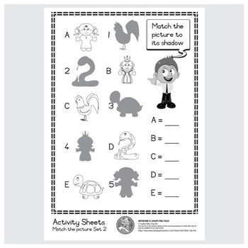 Freebie : Activity Sheet/Match the picture Set 4