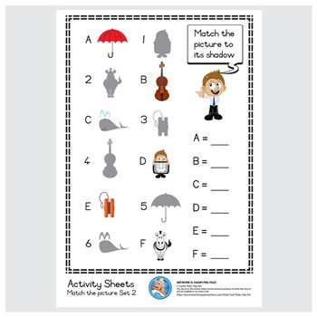 Freebie : Activity Sheet/Match the picture Set 5