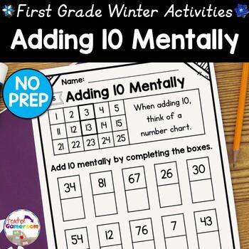Freebie - Adding 10 Mentally Worksheets ~ 1.NBT.5