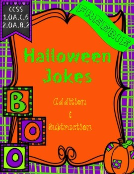 Freebie!! Addition & Subtraction {Halloween Themed Jokes}