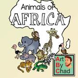 Freebie African Animal Clip Art and Line ArtByChad