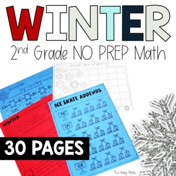 Winter Math Worksheets No Prep Math 2nd Grade Math Print And Go