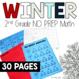 Winter Math Worksheets | No Prep Math | 2nd grade Math Print and Go