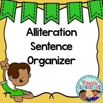 Freebie: Alliteration Organizer