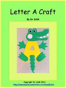 Freebie: Alphabet Craft / Letter A