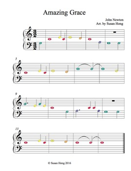 Freebie Amazing Grace Music Sheet