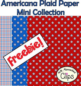 Freebie! Americana Plaid Paper Mini Collection