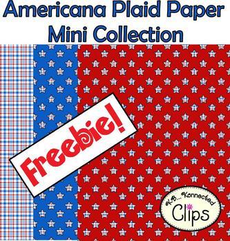 Freebie! Americana Plaid Paper Mini Collection