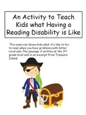 Freebie! An Activity to Teach Kids what a Learning Disability is Like