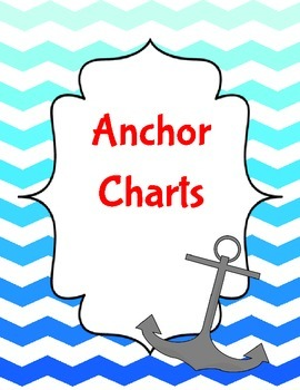 Freebie: Anchor Charts Binder Cover