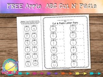 Freebie!! Apple Alphabet Cut and Paste