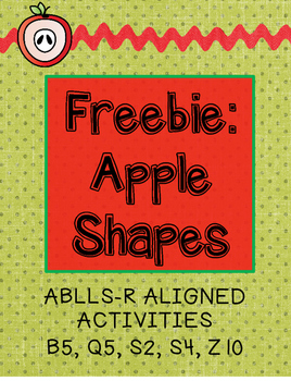 Freebie: Apple Shapes ABLLS-R Aligned Activities B5, Q5, S2, S4, Z10