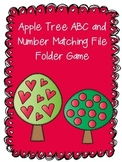 Freebie! Apple Tree ABC and Number Matching File Folder Game