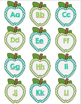Freebie Apple letters and numbers labels/ Étiquettes des lettres et des chiffres