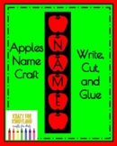 Apples Name Craft for K (Autumn, Back to School, First Day, Johnny Appleseed)