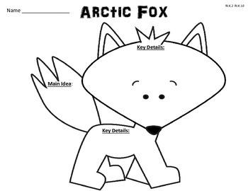 Freebie: Arctic Fox Graphic Organizer