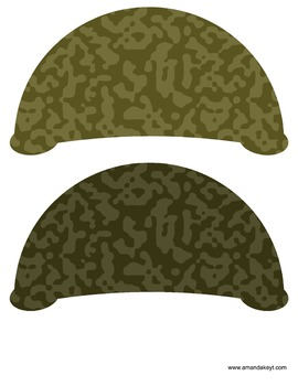 Freebie- Army Photo Booth Photobooth Props