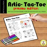 Articulation Tac Toe Speech Therapy Game- Preview