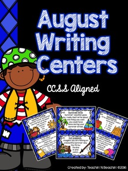 *Freebie* August Writing Prompts and Center (CCSS Aligned)